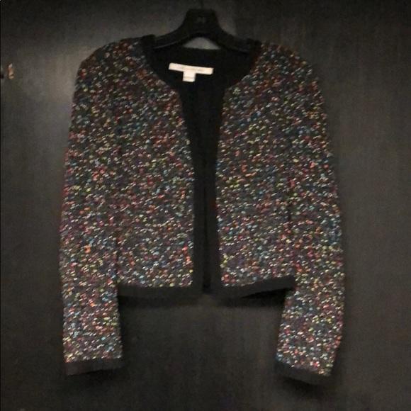 Diane Von Furstenberg Jackets & Blazers - DVF confetti tweed jacket
